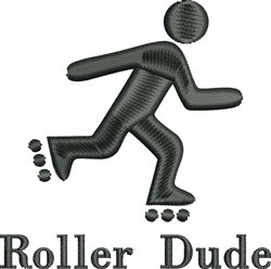 Roller Dude embroidery design