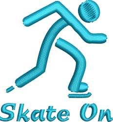 Skater On embroidery design