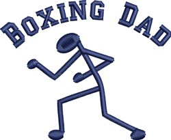 Boxing Dad embroidery design