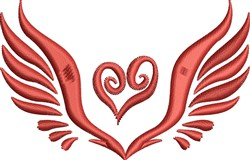 Wing Heart embroidery design