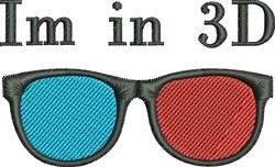Retro 3D Glasses embroidery design