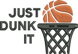 Basketball & Net embroidery design