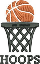 Basketball & Net embroidery design