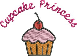 Cupcake Princess embroidery design