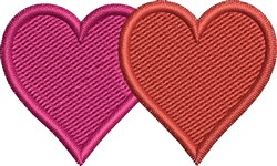 Double Hearts embroidery design