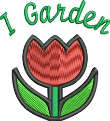 Spring Tulip embroidery design