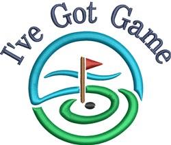 Modern Golf embroidery design