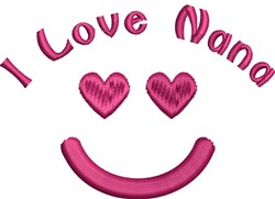 Happy Hearts Face embroidery design