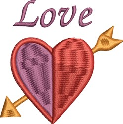 Heart And Arrow embroidery design