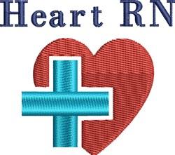 RN Heart & Cross embroidery design