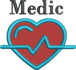 Heart Beat embroidery design