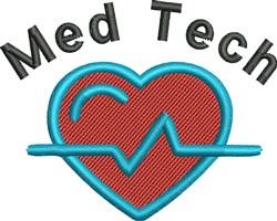 MedTech Heart Beat embroidery design