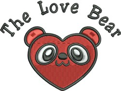 The Love Bear embroidery design