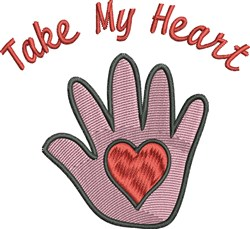 Heart In Hand embroidery design