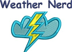 Weather Nerd embroidery design