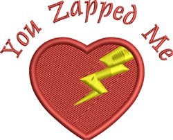Lightning Heart embroidery design