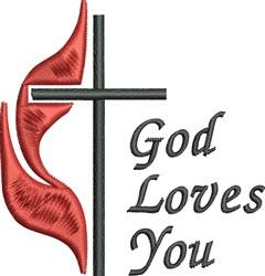 Methodist Cross embroidery design