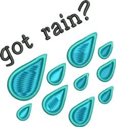Rain Drops embroidery design