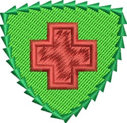Red Cross Shield embroidery design
