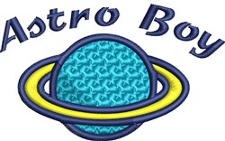 Space Planet embroidery design