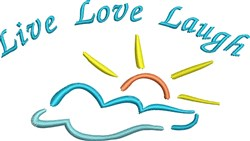 Sunshine and Clouds embroidery design