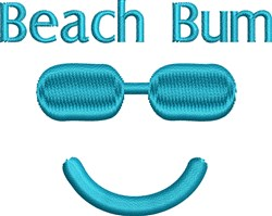Sunglasses Smiley Face embroidery design