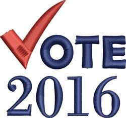 Vote 2016 embroidery design