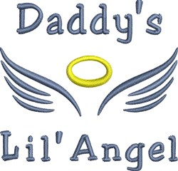 Daddys Angel embroidery design