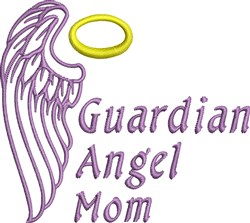 Angel Mom embroidery design