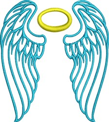 Wings & Halo embroidery design