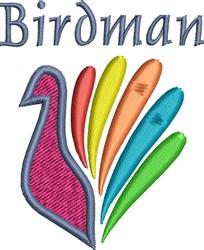 Birdman embroidery design