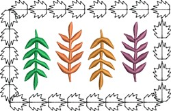 Branch Leaves embroidery design