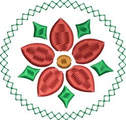 Christmas Bloom embroidery design