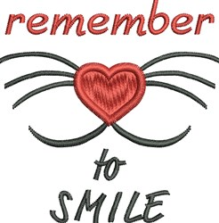 Remember Smile embroidery design