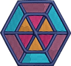 Colorful Hexagon embroidery design