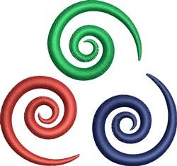 Triple Swirls embroidery design