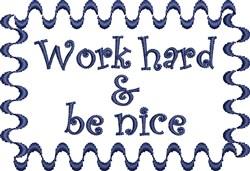 Work Hard embroidery design