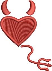 Devil Heart embroidery design