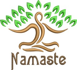 Namaste embroidery design
