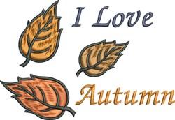 Love Autumn embroidery design