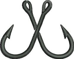 Fishing Hooks embroidery design