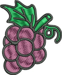 Grapes embroidery design
