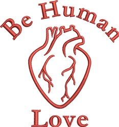 Human Love embroidery design
