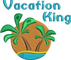 Vacation King embroidery design