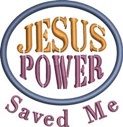 Jesus Saved Me embroidery design