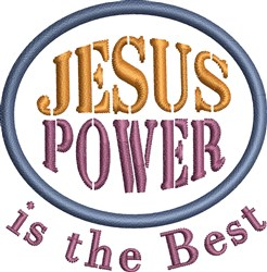 Jesus The Best embroidery design