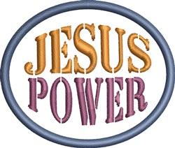 Jesus Power embroidery design