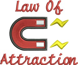 Law Of Attraction embroidery design