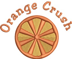 Orange Crush embroidery design