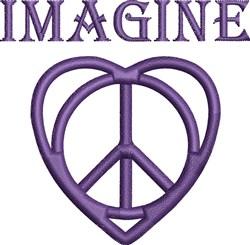 Imagine Heart embroidery design